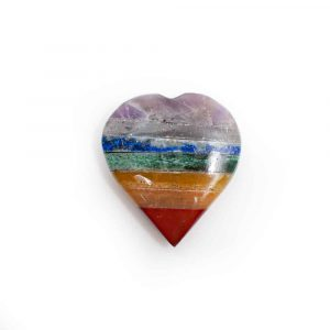 Piedra en forma de Corazón 7 Chakras