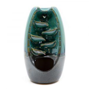 Incienso Backflow Cascada Porcelana Azul